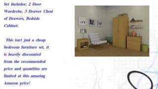 Panama 3 Piece Bedroom Furniture Sets - Wardrobe,