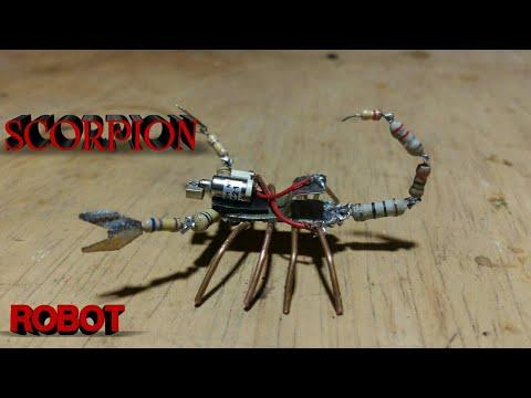 Ide Kreatif, Merubah Komponen Elektronik Jadi Robot Kalajengking yang Bisa Bergerak