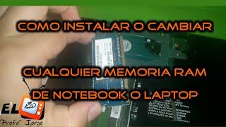 Como cambiar la memoria RAM de un PORTATIL NOTEBOOK LAPTOP TOSHIBA DDR2 DIMM