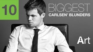 Top 10 biggest magnus carlsen's blunders || chess clip # 2.