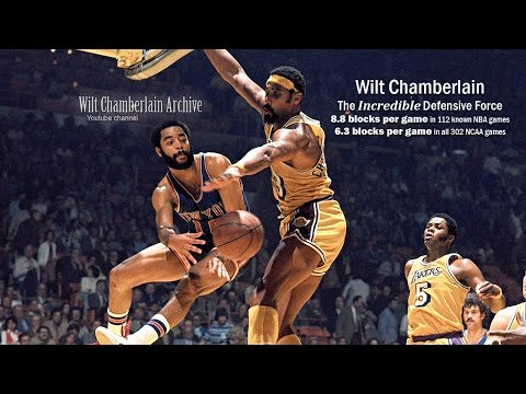 Wilt Chamberlain - The Incredible Defensive Force (Shot Blocking & Intimidation Highlights)