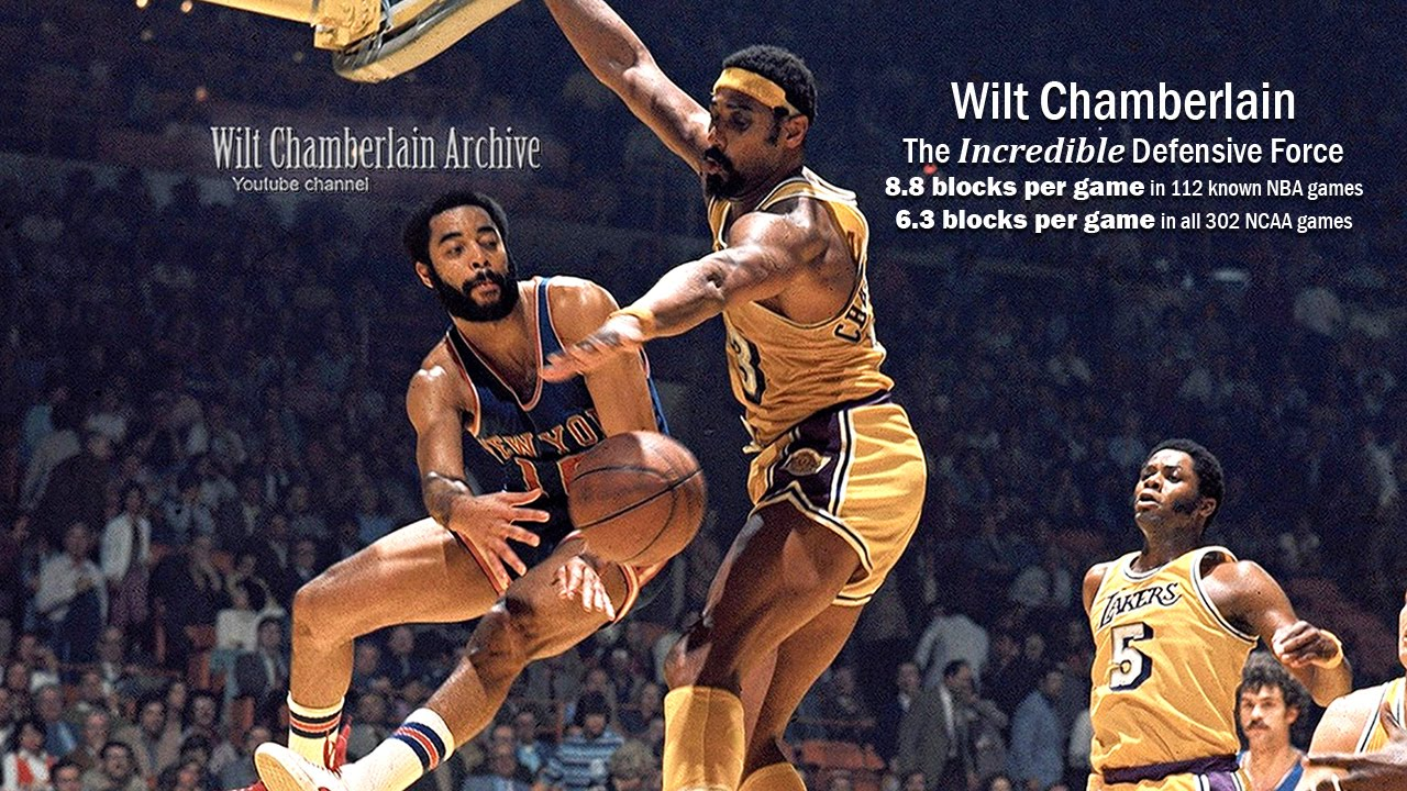 Wilt Chamberlain The Incredible Defensive Force Shot Blocking