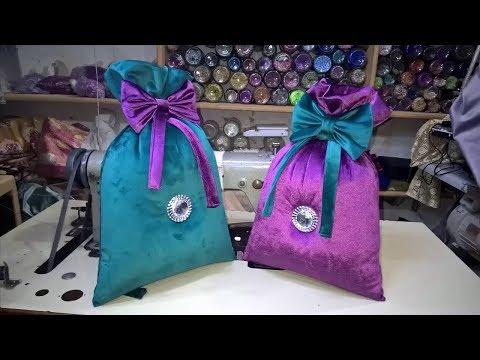 كيفية خياطة كيس ديكور لزينة الصالون المغربي😍😍😍How to sew a padded bag
