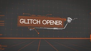 Free After Effects Intro Template #105 : Glitch Logo Opener Intro Template
