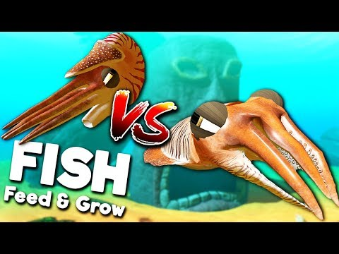 PLAY AS THE CUTTLEFISH AND BATTLE THE NEW NAUTILUS! | Feed And Grow Fish Update Gameplay