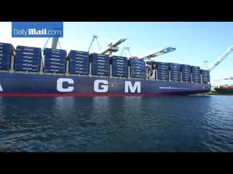 Biggest Container Ship Ever To Dock In America Benjamin Fran