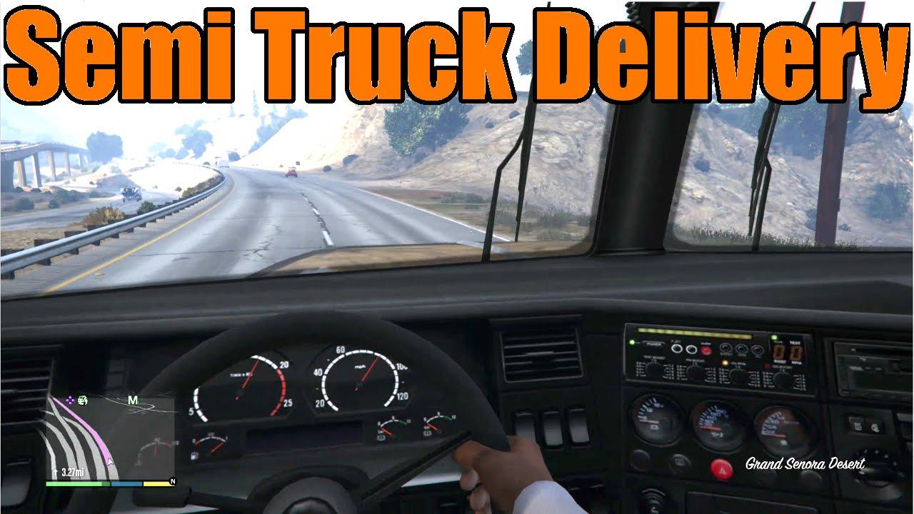 GTA 5 Xbox OnePS4 First Person Trucking Semi Truck