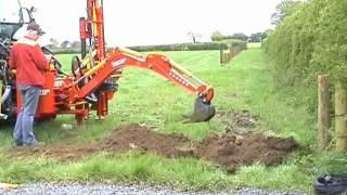 Excavator postdriver Vector powerdrive fencing post driver knocker pile postpounder pounder fencer