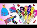 Paper Dolls My little pony mane 6  dress up  for Grand galloping gala - easy papercraf