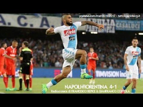 NAPOLI-FIORENTINA 4-1 - Radiocronaca di Francesco Repice & Gianfranco Coppola (20/5/2017) Radio Rai