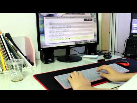 무선 키보드 마우스합본 아이매직 RF1430 키보드 타이핑 소음 테스트