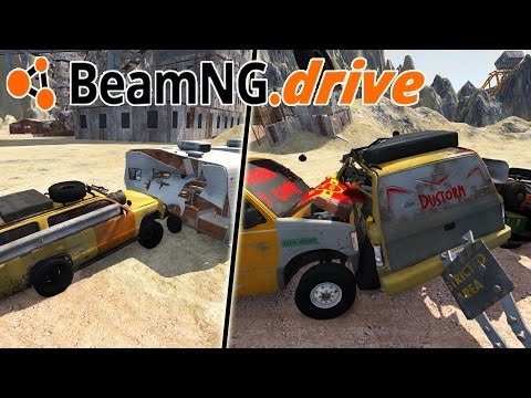 CRAZY WASTELAND MAP, INSANE GIANT CANNON Mad Max Car + CRASHES!  - BeamNG Drive Gameplay Highlights