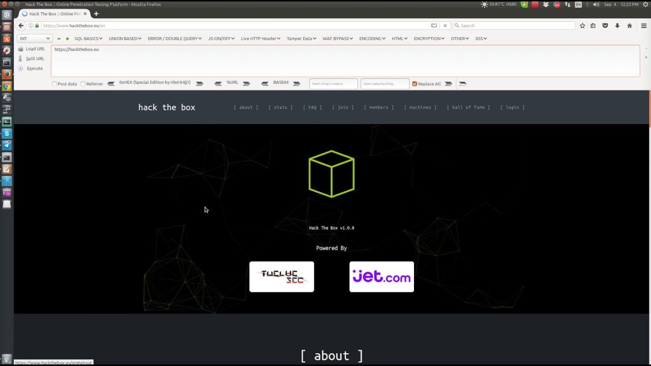 Get a invite code to access hackthebox eu