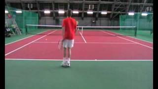 Mark Zubov College Tennis video Part1
