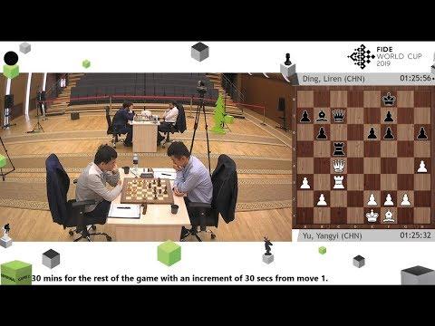 Yu Yangyi Vs Ding Liren / Khanty-Mansiysk FIDE World Cup 2019