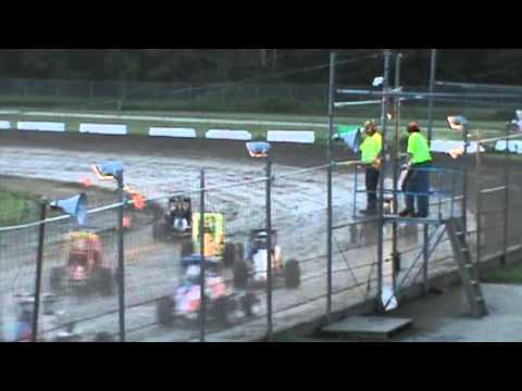 Outlaw Midgets - Canaan Dirt Speedway - 6-14-13