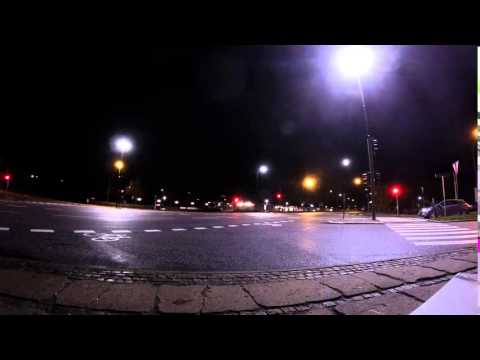 Traffic Lights in the Night - Timelapse (Free to use HD Stock Footage)