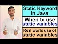 - Static Variables in Java Hindi  Static Keyword in Java