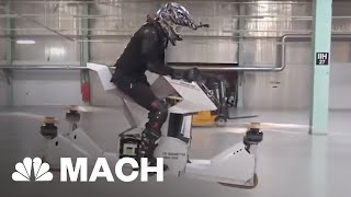 Hovesurf Hoverbike, The Latest Invention In Drone Technology | Mach | NBC News