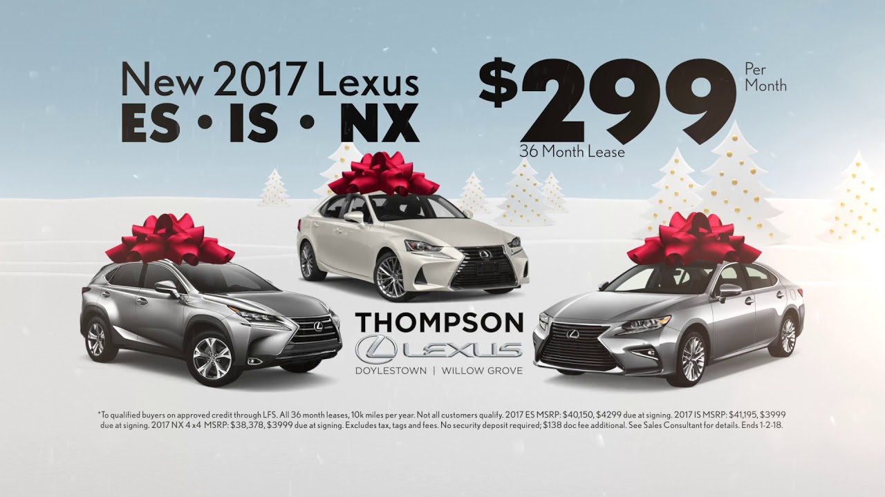Lexus Es Is Or Nx For 299 Mo December To Remember S Event