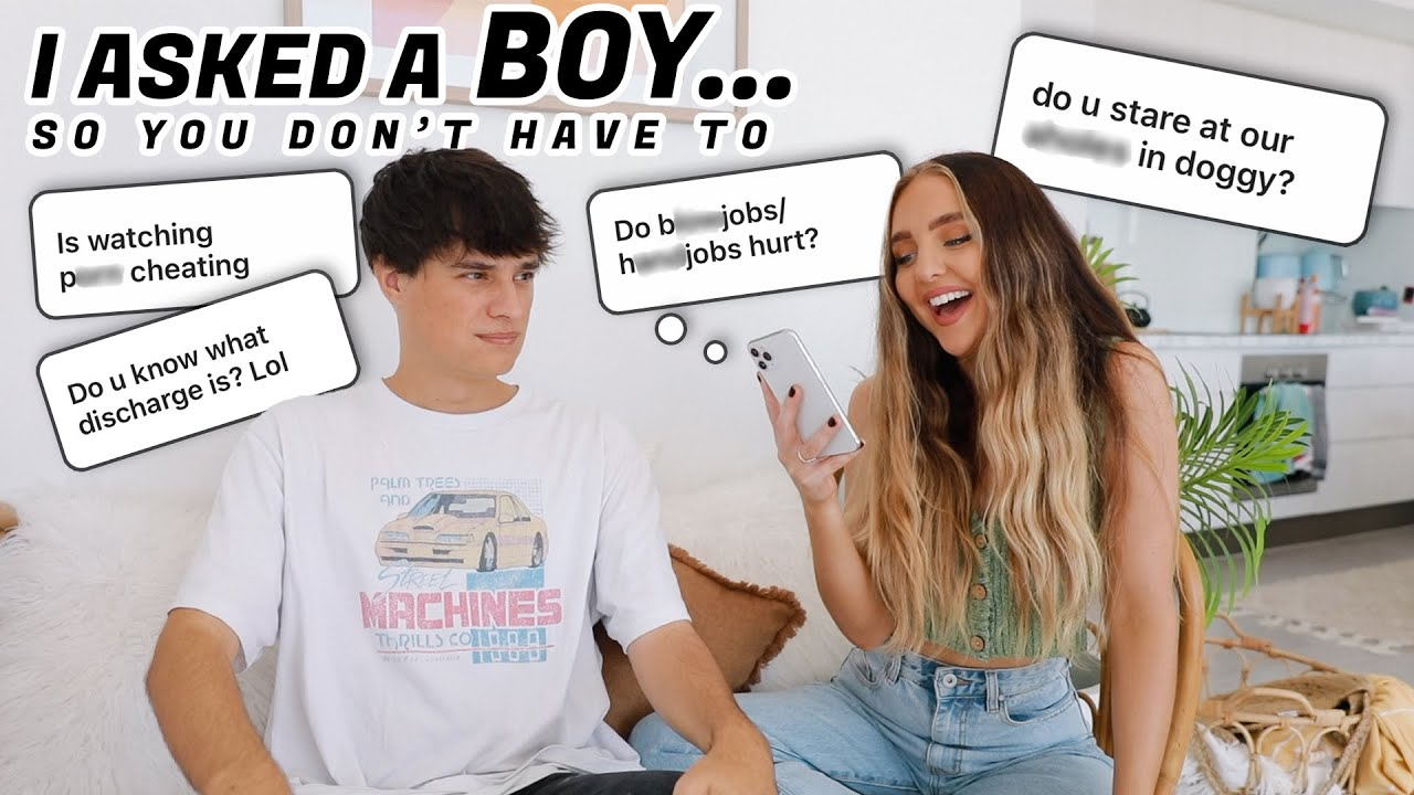 ASKING A GUY TMI AWKWARD QUESTIONS! *girls are afraid to ask