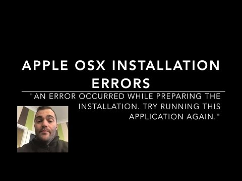 """Apple OSX INSTALLATION ERROR """"AN ERROR OCCURRED WHILE PREPARING THE INSTALLATION  TRY RUNNING THIS A"""