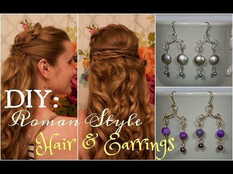 DIY Hair & Earrings, Inspired by the HBO Series, Rome.