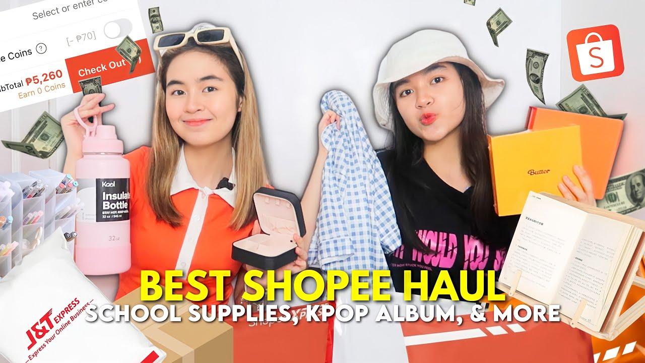BEST SHOPEE HAUL 2021 (School Supplies, KPOP Albums, & More!) | Princess And Nicole