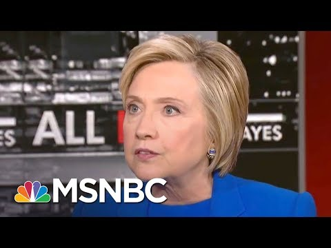 Hillary Clinton: 'Quite Telling' Donald Trump Attacks Black Athletes Not Neo-Nazis | All In | MSNBC