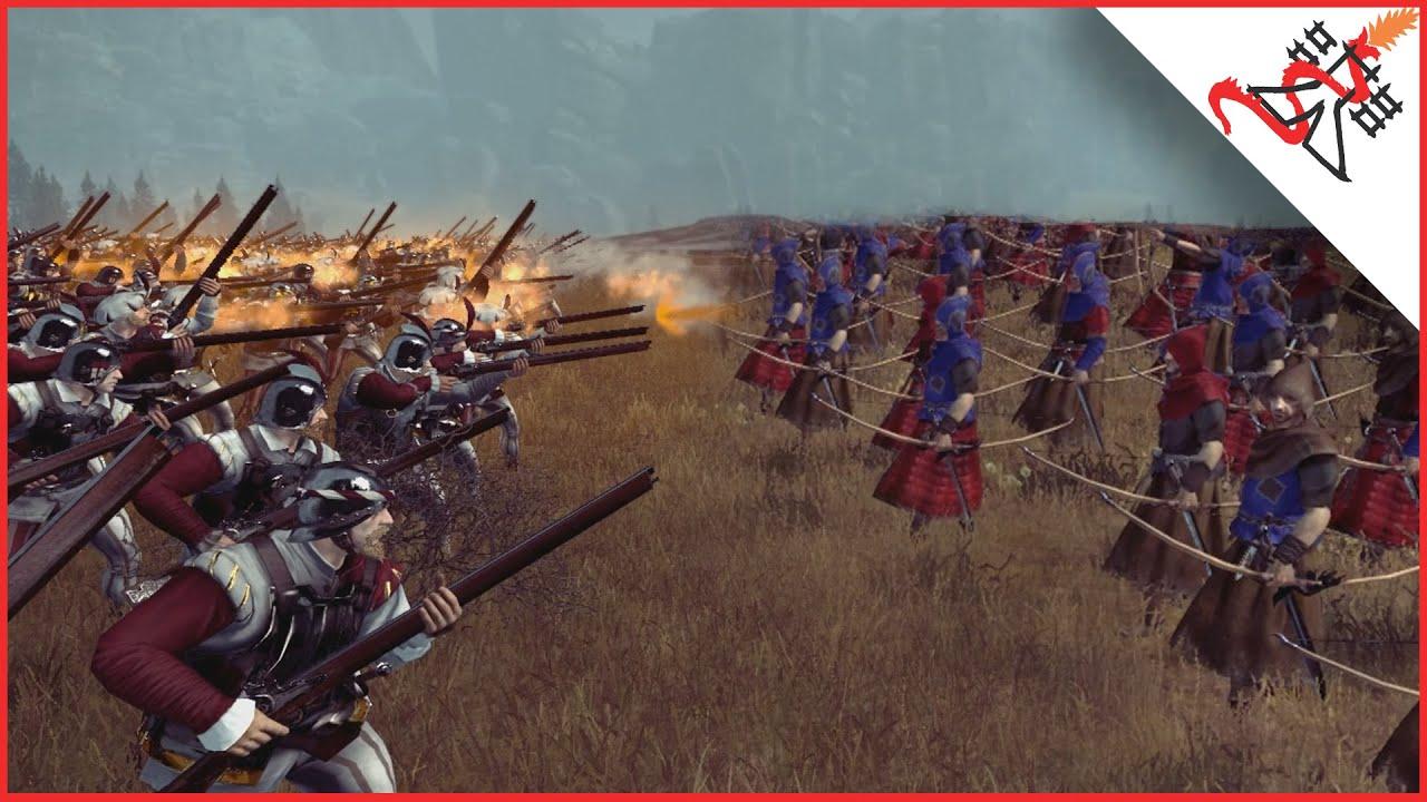 EPIC 7018 HANDGUNNERS vs 7018 ARCHERS - Total War: WARHAMMER