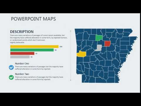 PowerPoint maps of Arkansas with Counties