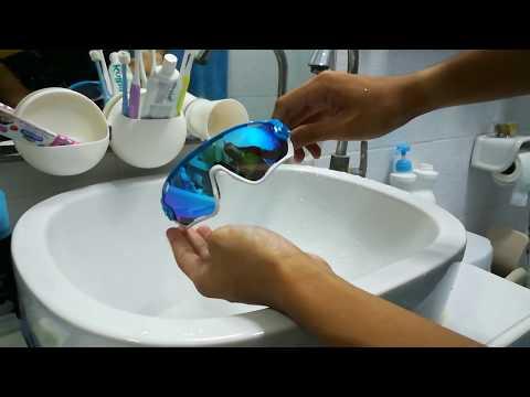 สาธิตวิธีการล้าง แว่นกันแดด Oakley สำหรับสายกีฬา (How to cleaning your Oakley sunglasses)
