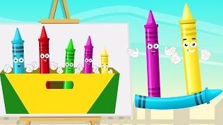 мелки палец семья | Детская песня | Рифма для детей | Nursery Rhyme For Kids | Crayons Finger Family