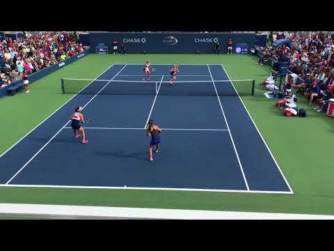 US Open 2017 2nd Round Women's Doubles Good Points: Hingis/Chan vs Mladenovic/Pavlyuchenkova
