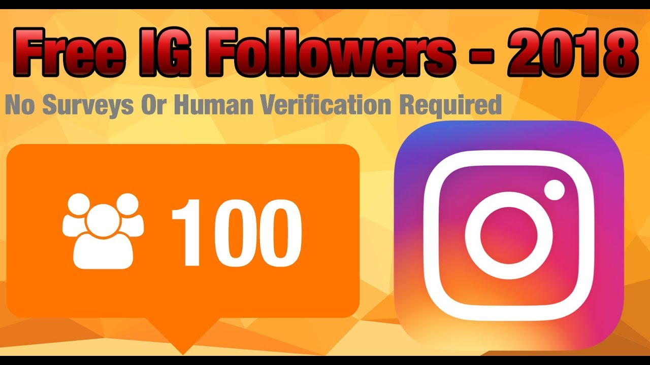 free followers without human verification or surveys