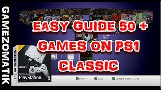 PlayStation 1 Classic Hack, 50+ Games-Easy Guide