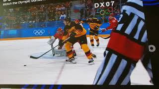 Германя-Россия Хоккей Пхёнчхан немцы выровняли счёт
