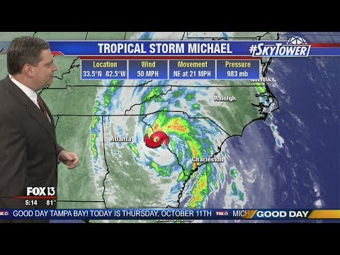 Tropical Storm Michael morning update: October 11, 2018