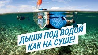 Маска для подводного плавания Easybreath Tribord. Дыши под водой как на суше!   Декатлон