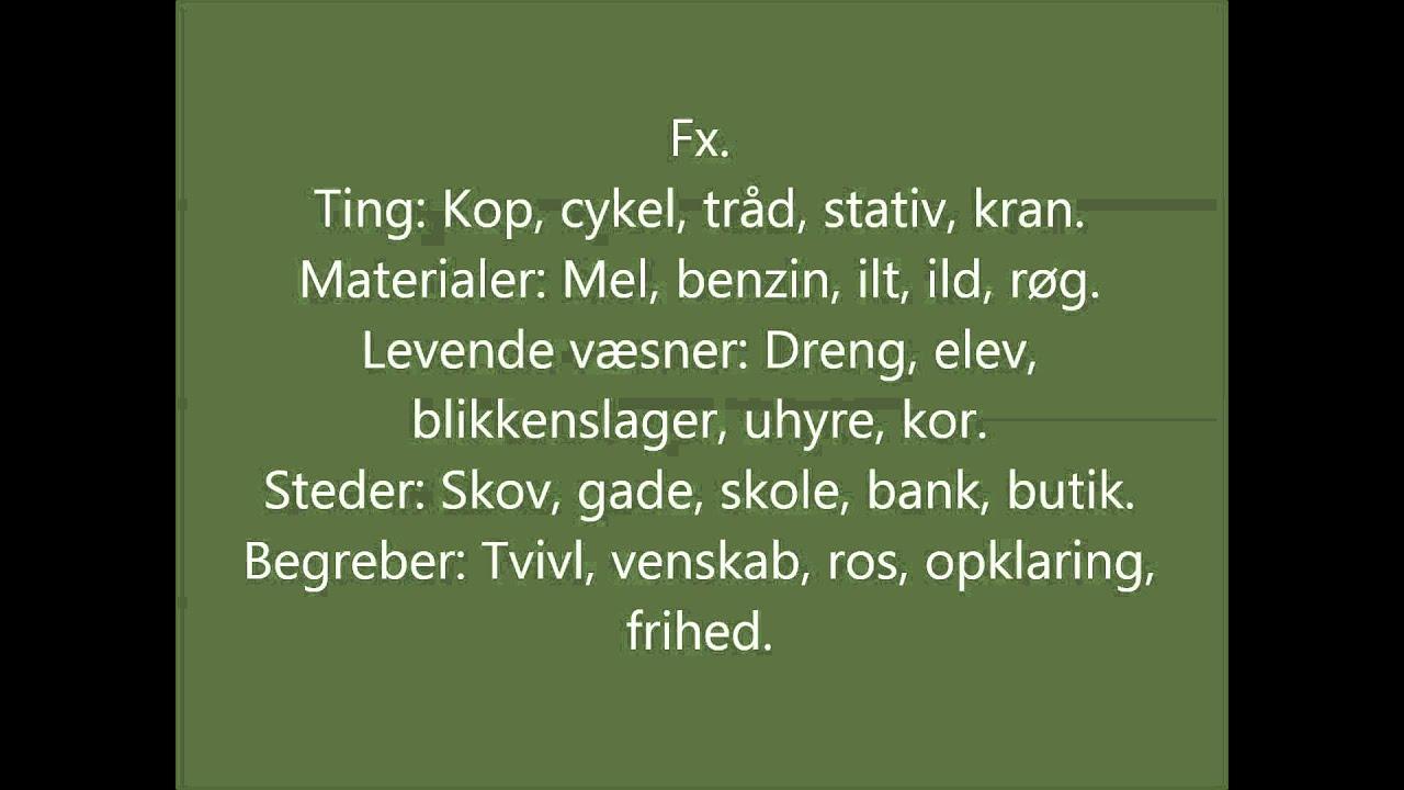 Dansk emneuge: Navneord.