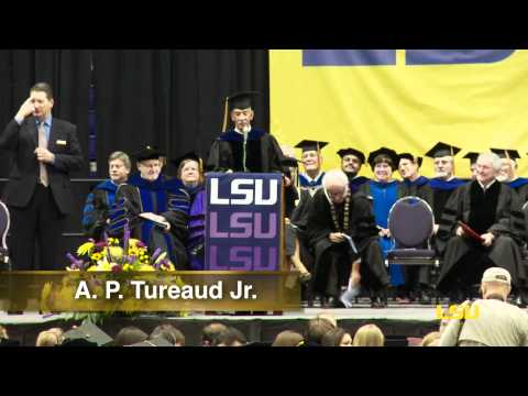 "Alexander Pierre ""A. P."" Tureaud Jr. Honored at LSU Graduation 2011"
