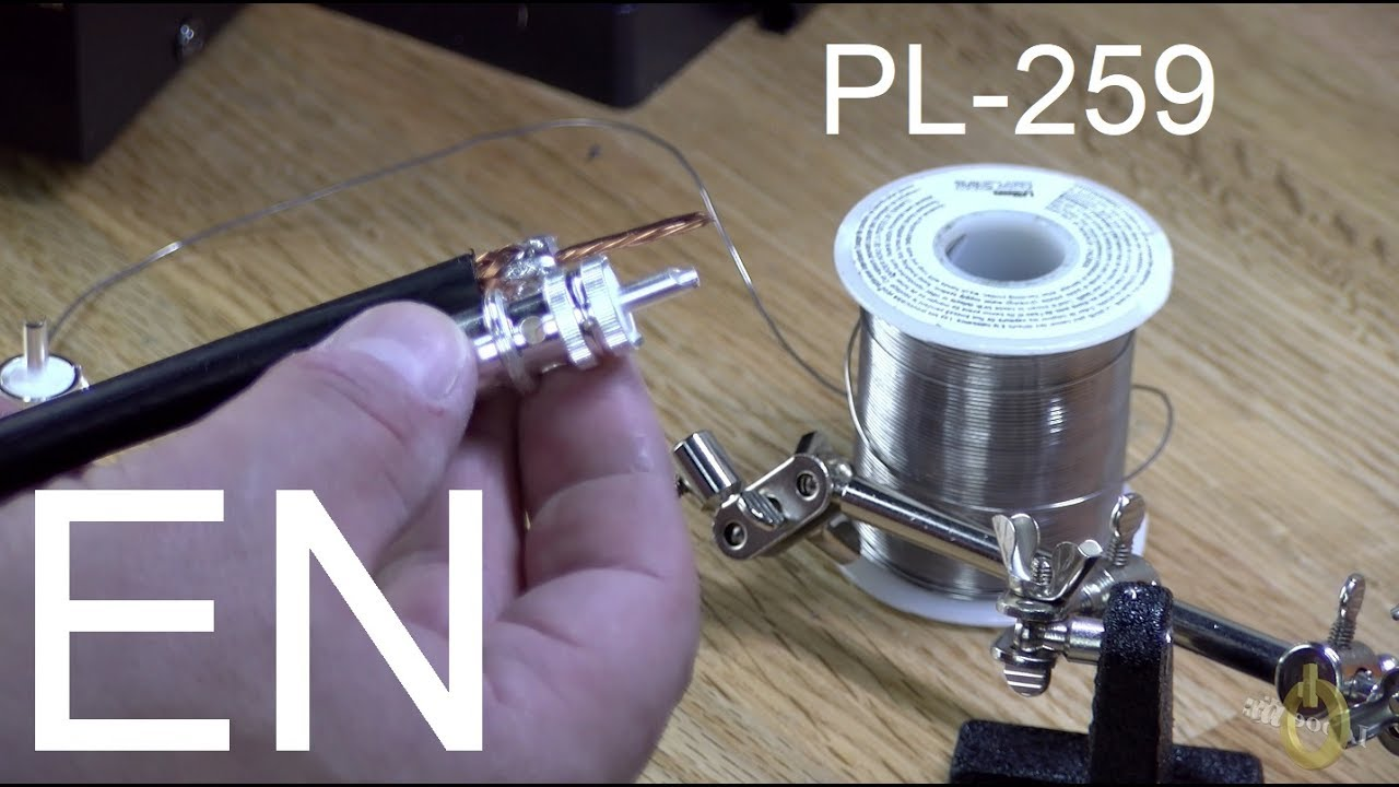 PL-259 connector installation on a RG-213 (or RG-8