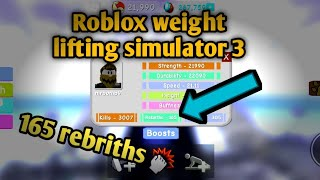 165 REBIRTHS IS OP|| Roblox Weight Lifting simulator 3