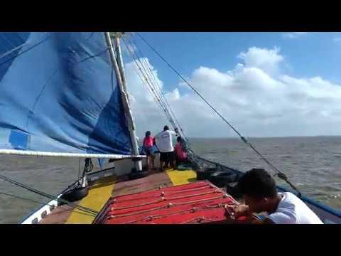 Viagem de barco de São Luis para Alcântara - Maranhão - Brasil (Parte 2) Áudio original