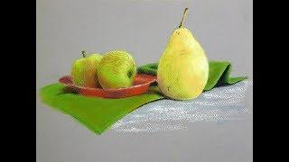 Как нарисовать простой натюрморт сухой пастелью