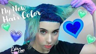 ПЕРЕХОД из СИНЕГО в ГОЛУБОЙ !??/ ОМБРЕ ОДНИМ ЦВЕТОМ/ollin matisse color /Ombre hair /RolaRoys