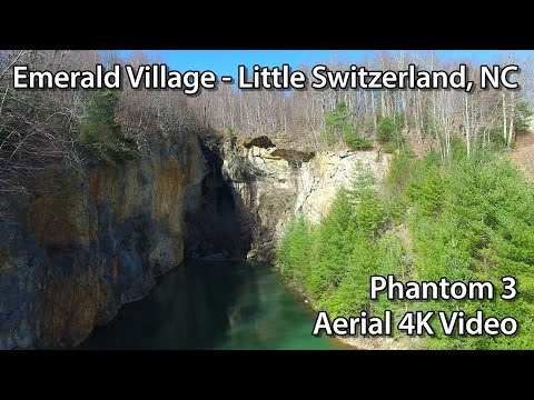 Emerald Village Mines - Little Switzerland, NC - Epic Aerial Views