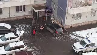 Полуголый красноярец повредил 6 автомобилей и угрожал ножом