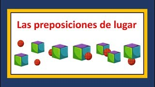 Las Preposiciones De Lugar En Inglés Prepositions Of Place Youtube
