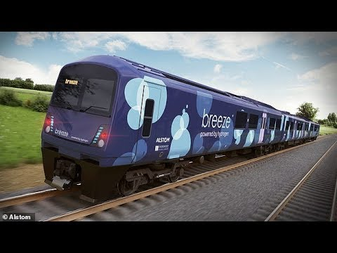 (Breeze) Hydrogen powered train that produce no waste products other than water & steam